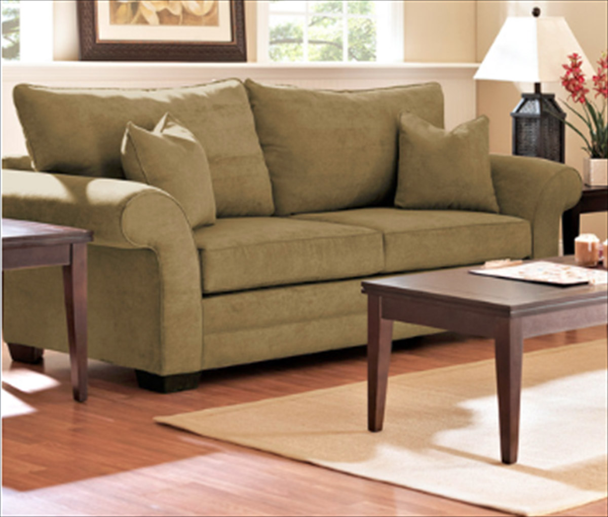 Klaussner Holly Sofa Willow Olive
