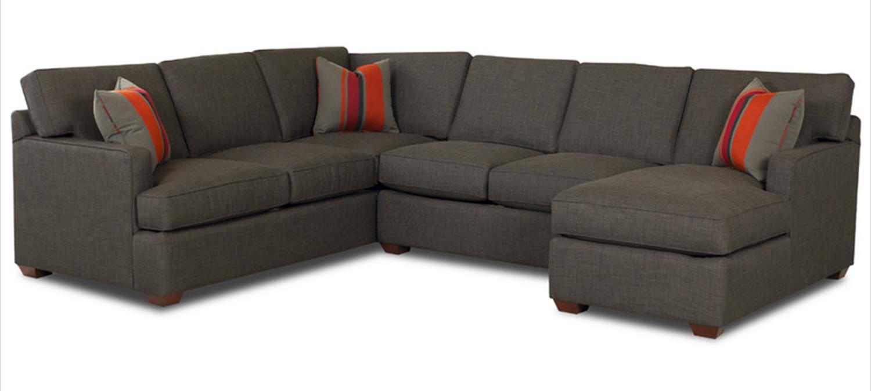 Klaussner Loomis Sectional Sofa Set Dumdum Charcoal Kl