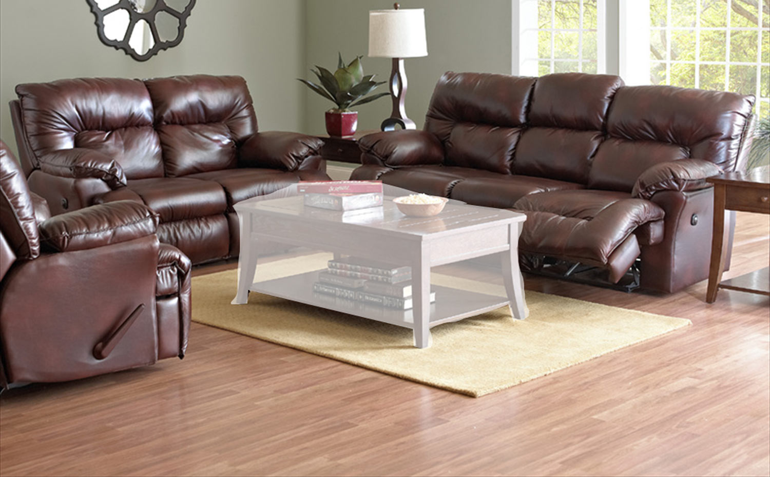 Klaussner Laramie Reclining Sofa Set Raleigh Tobacco