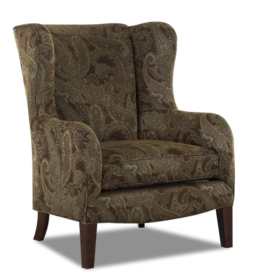 Photo of Klaussner Polo Chair - Ruins Espresso (Accent Furniture, Accent Chairs)