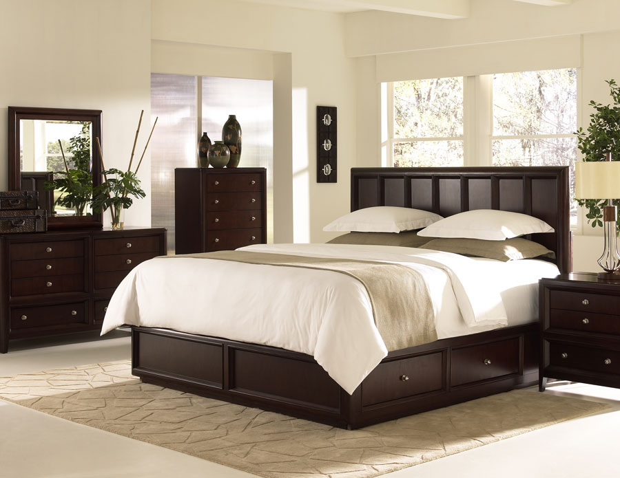 Klaussner proximity storage bedroom set kl 761 bed set at for Bedroom furniture for less