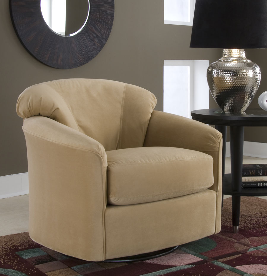 Photo of Klaussner Swivel Glide Chair (Accent Furniture, Accent Chairs)