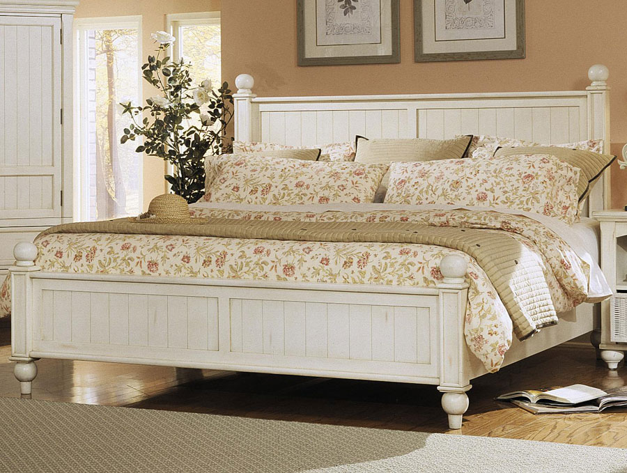 Klaussner Treasures White Bed