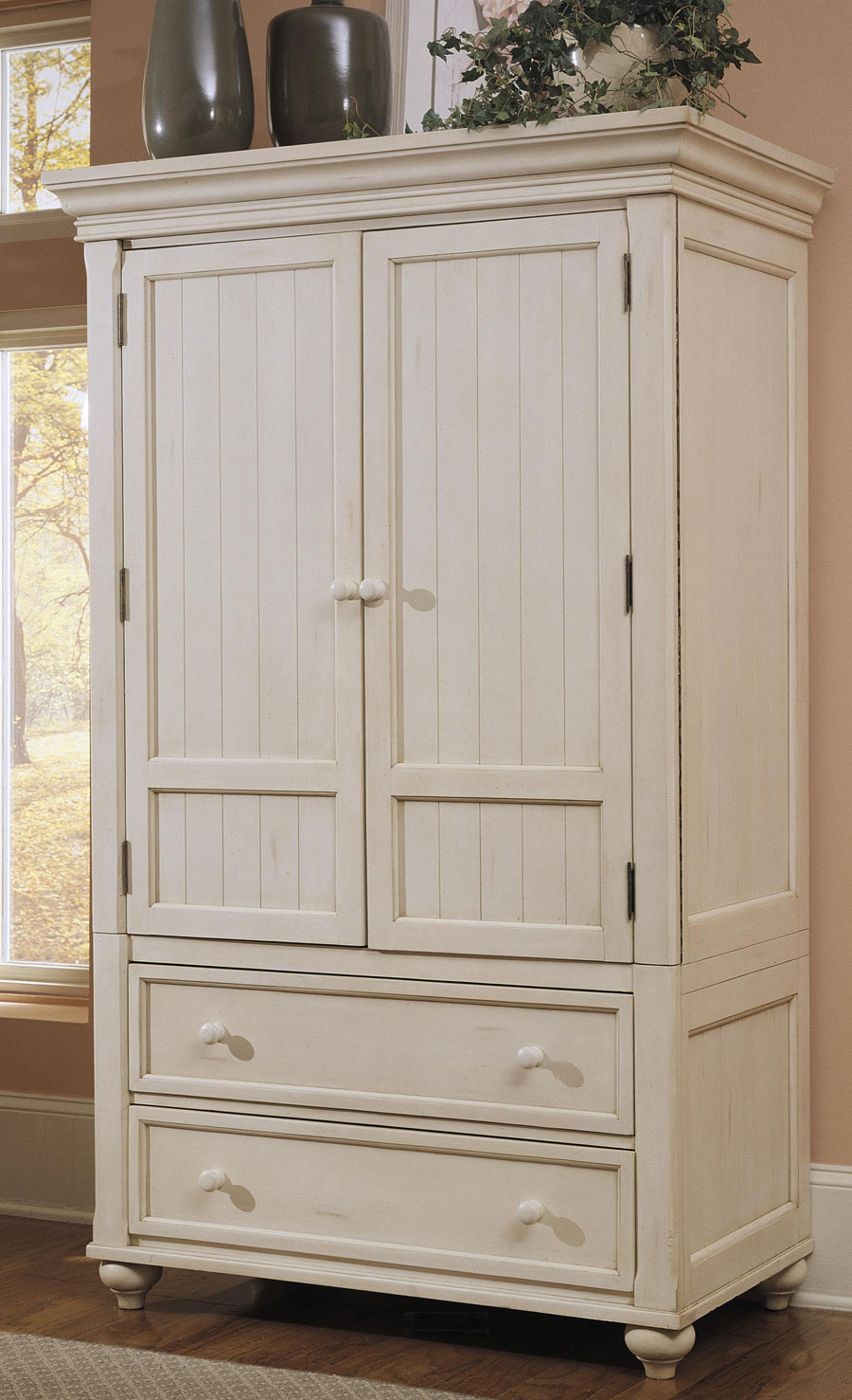 Klaussner Treasures White TV Armoire