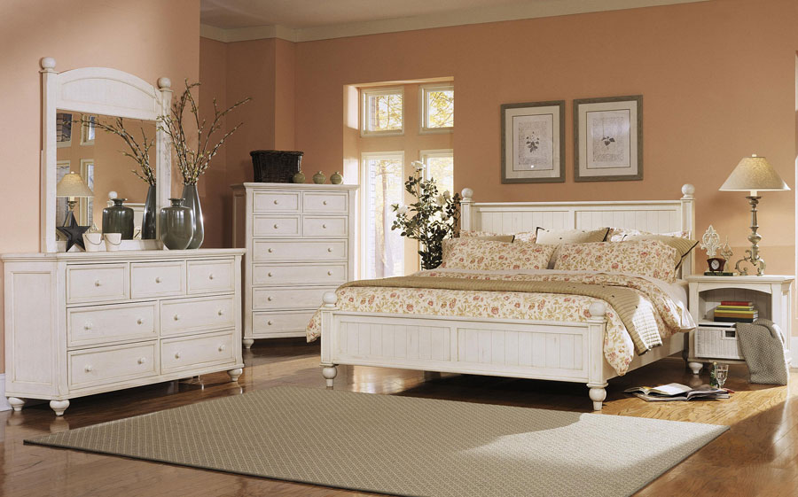 Klaussner Treasures White Bedroom Set KL-842-Bed-Set at Homelement.com
