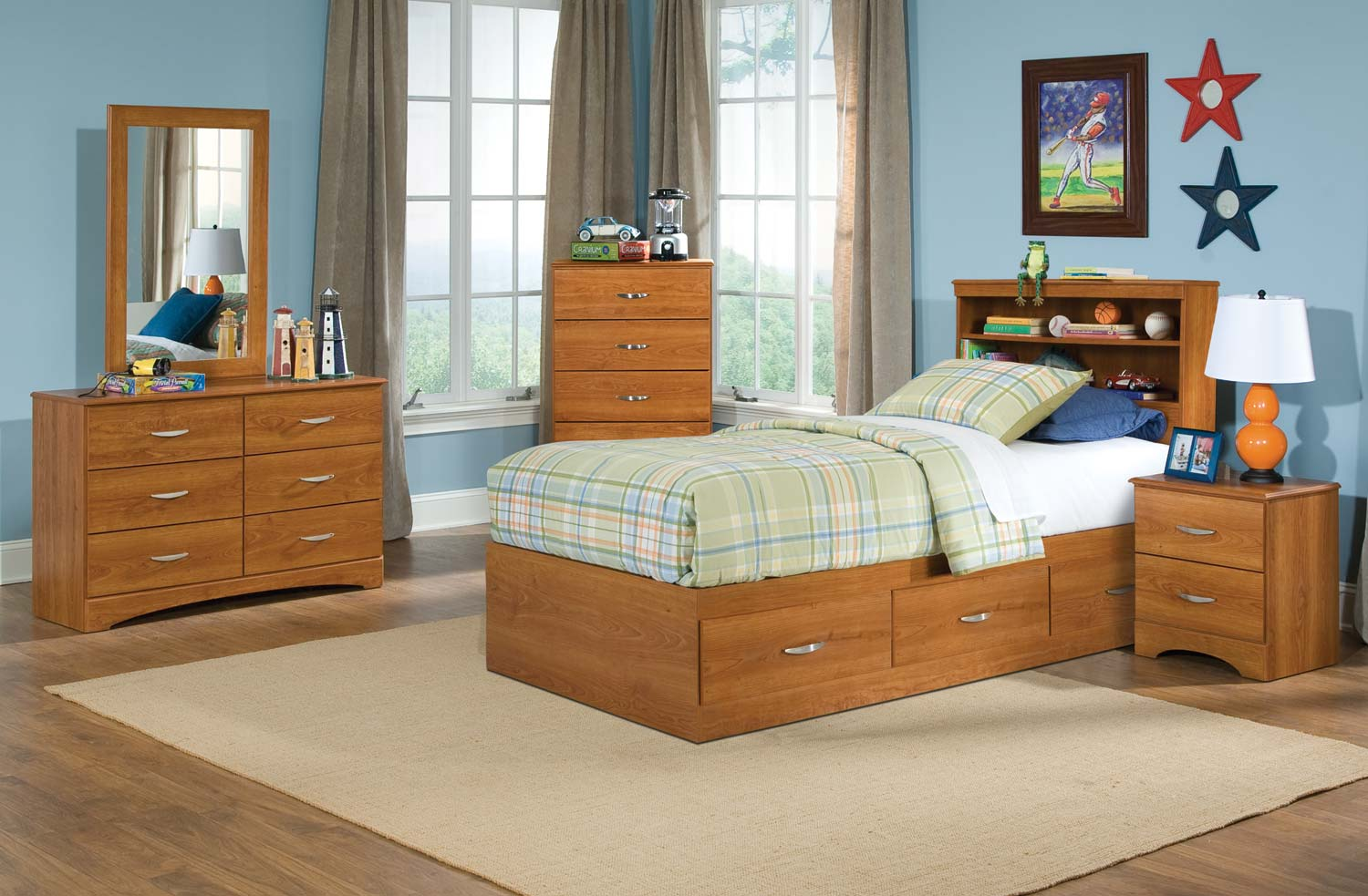 Kith Furniture Tanner 3 Drawer Mates Bedroom Set