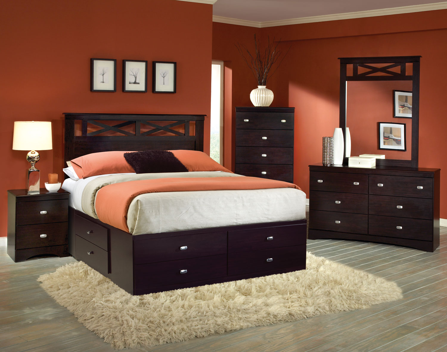 Kith Furniture Tyler Panel Storage Bedroom Set