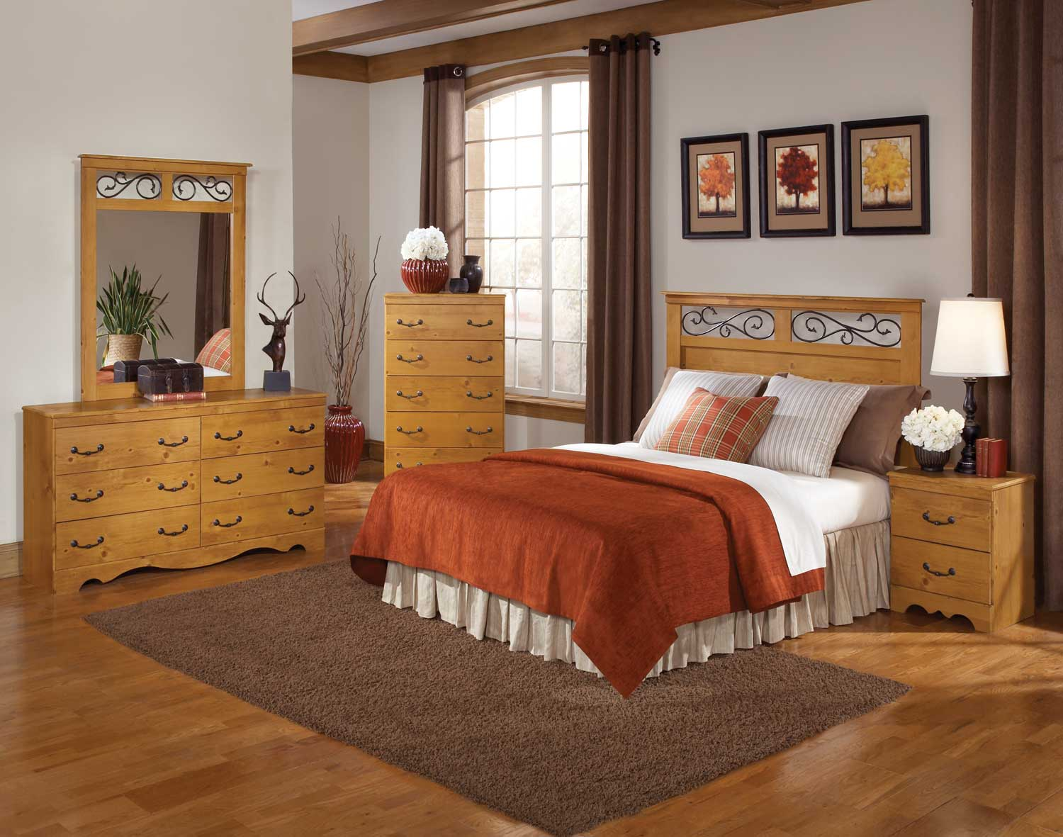 Kith Furniture Kenneth Creek Panel Bedroom Set