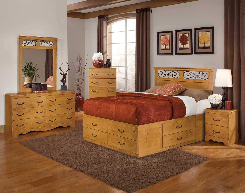 Kith Furniture Kenneth Creek Panel Storage Bedroom Set