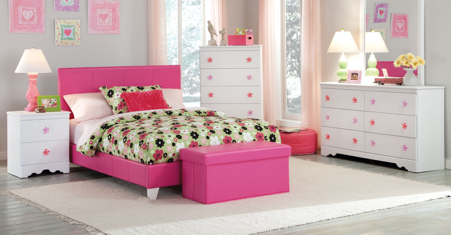 Kith Furniture Savannah Bedroom Set - Pink