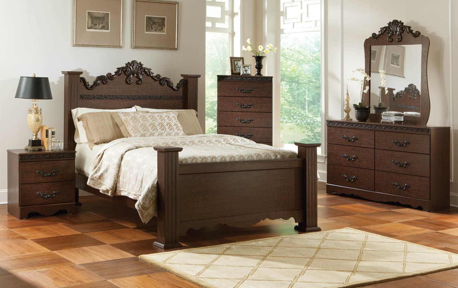 Kith Furniture Knollwood Poster Bedroom Set