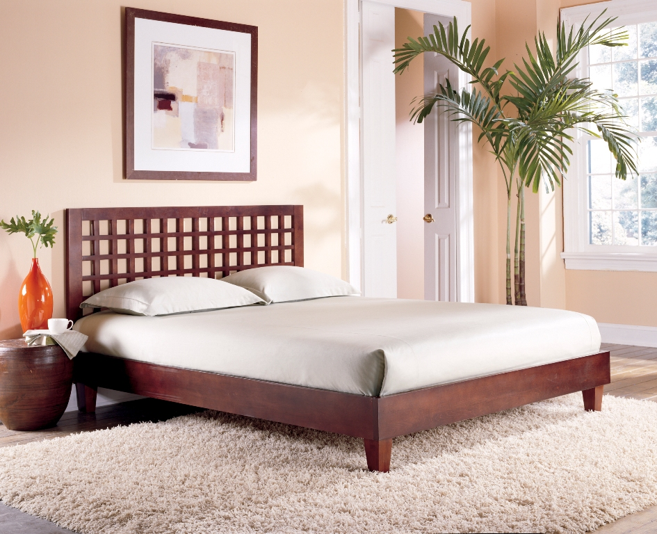 Fashion Bed Group Kyoto Bed in Mahogany