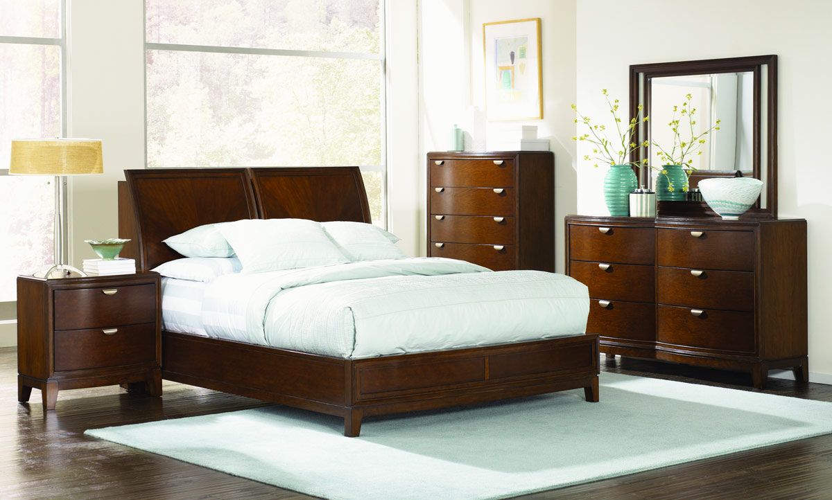Skyline shaped platform bedroom set legacy classic lc bedsetsp