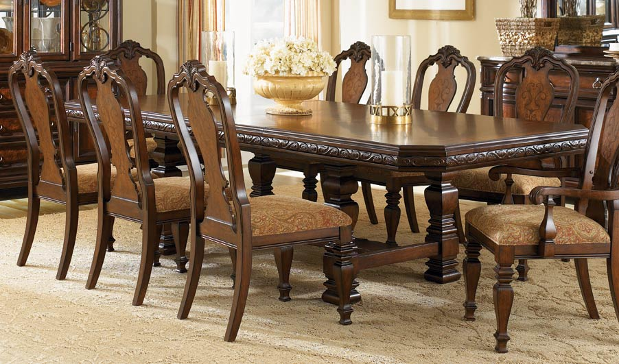Legacy Classic Royal Tradition Rectangular Trestle Dining Set 1080 ...