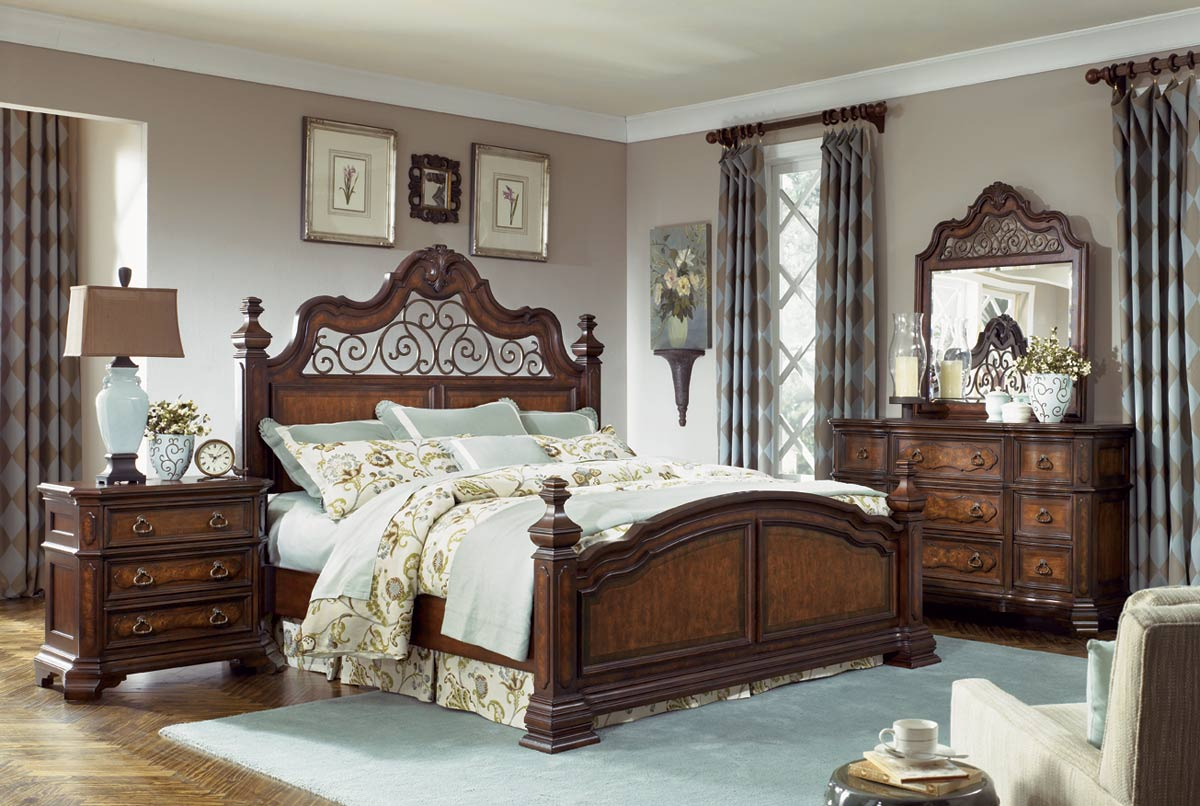 legacy classic royal tradition poster bedroom set 1080 18196 | lc 1080 postbedset