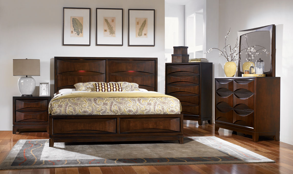 Morgan Lane Lighted Panel Bed With Storage - Legacy Classic