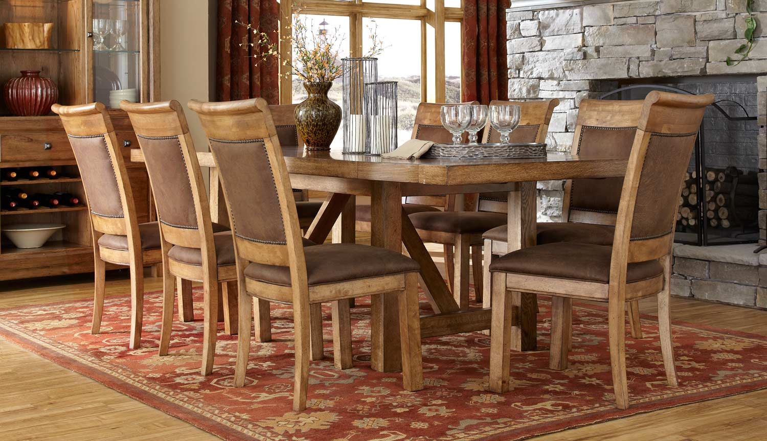Legacy Classic Logan Dining Set - Worn Khaki with Distressing