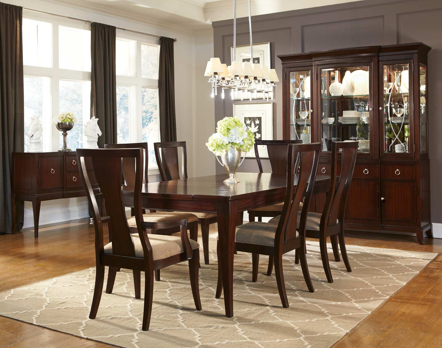Legacy Classic Laurel Heights Dining Set - Dark Truffle