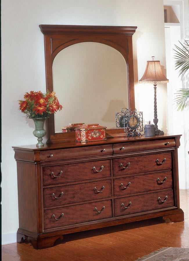 Legacy Classic Chateau Louis Dresser with Vertical Mirror