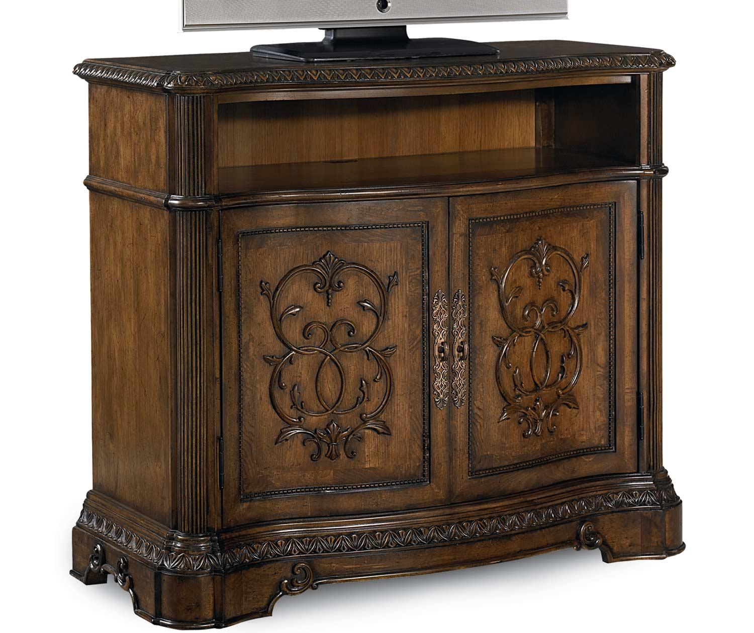 Legacy Classic Pemberleigh Media Chest - Brandy/Burnished Edges