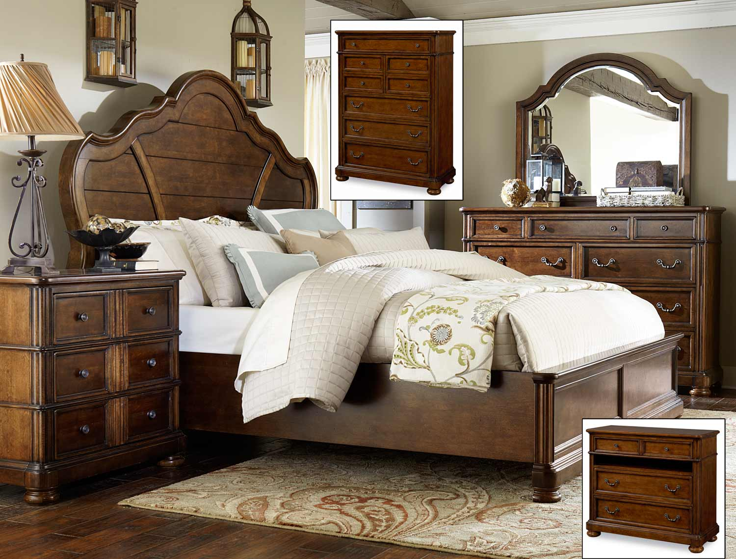 Legacy Classic Summerfield Panel Bedroom Set 3200 Panel Bed Set At
