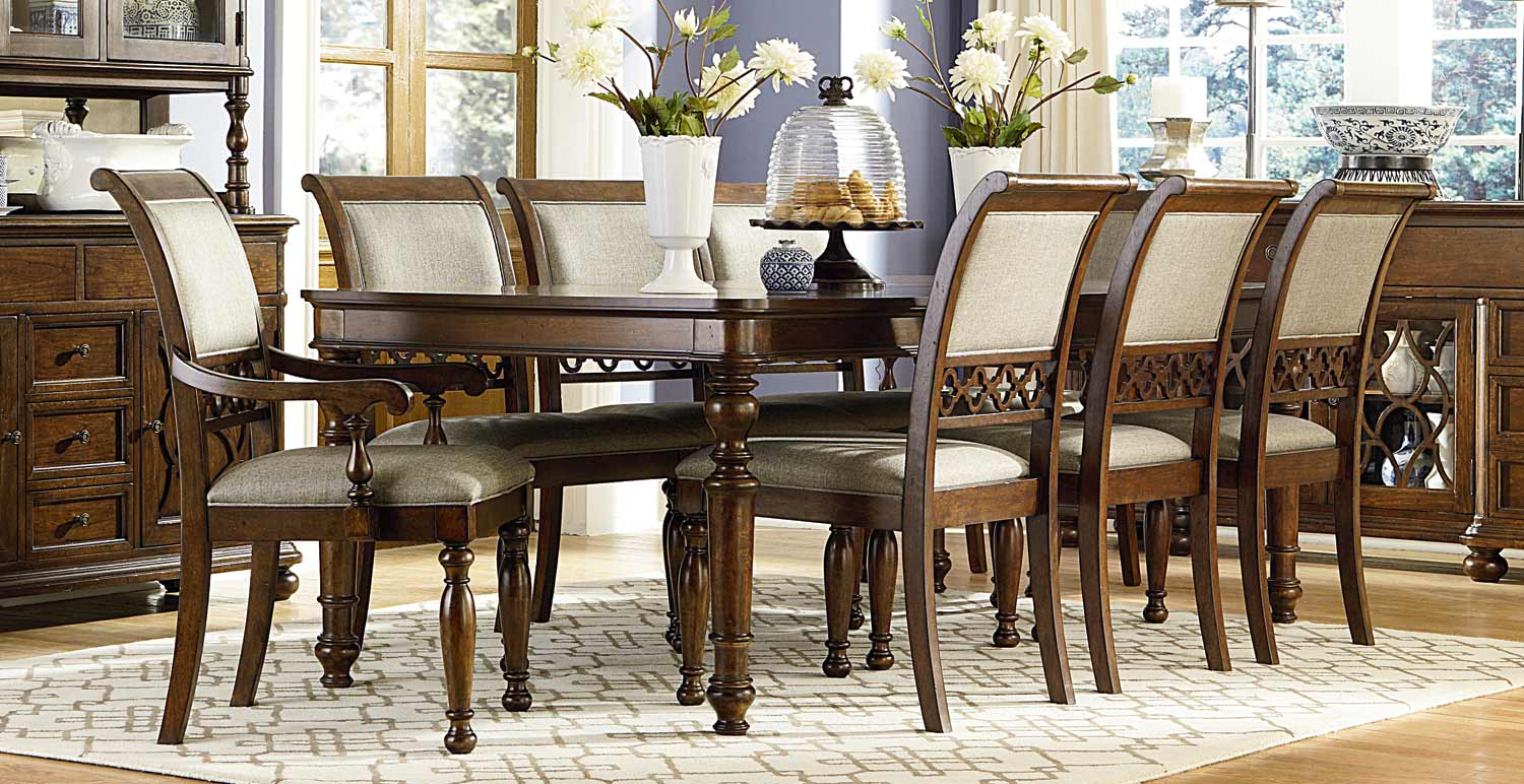 Legacy Classic Thornhill Upholstered Dining Set - Cinnamon