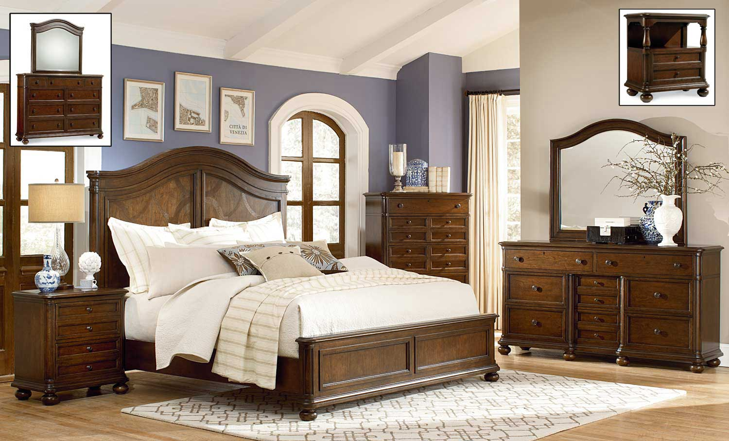 Legacy Classic Thornhill Panel Bedroom Set - Cinnamon