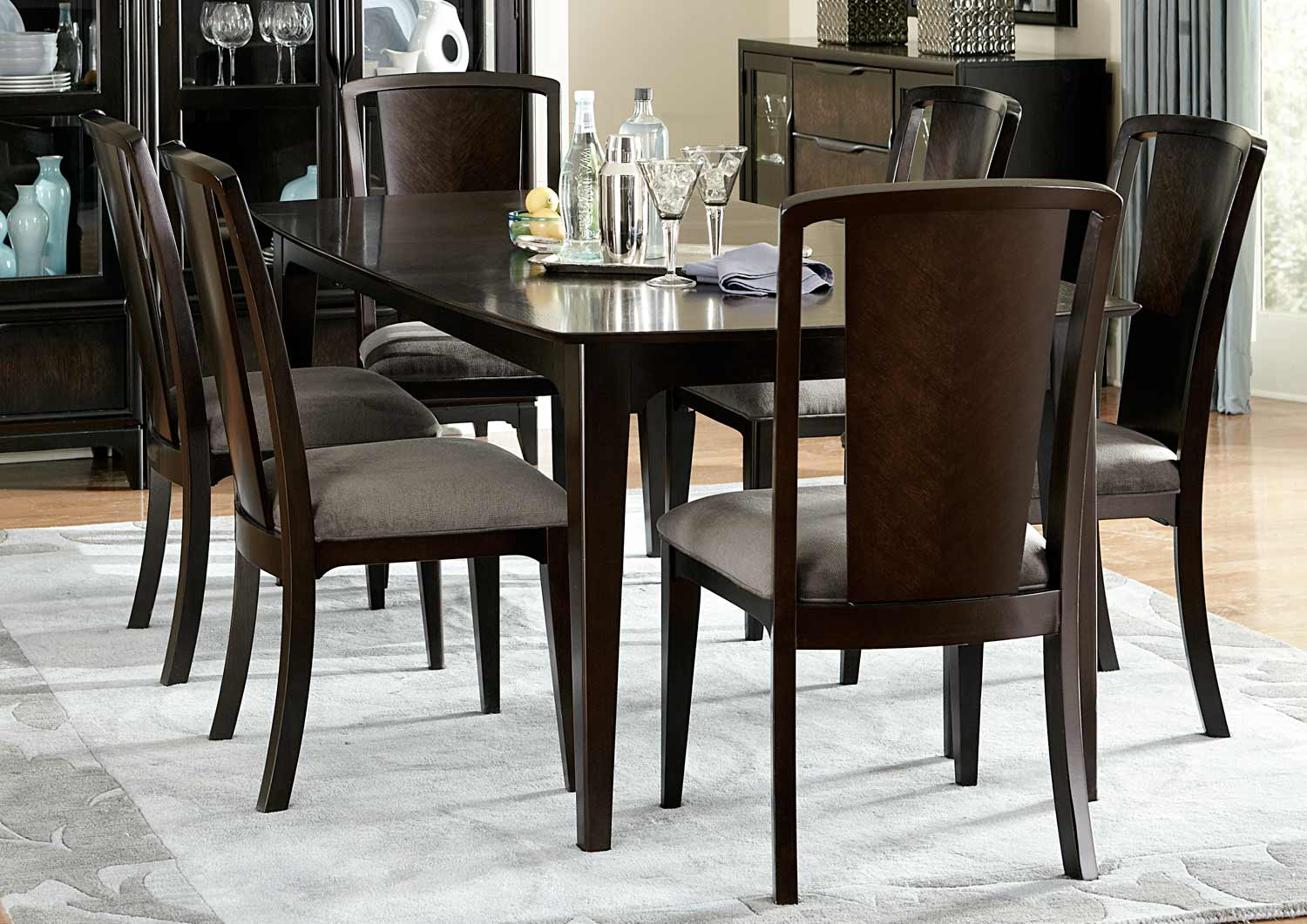 Legacy Classic Palisades Upholstered Dining Set - Cola