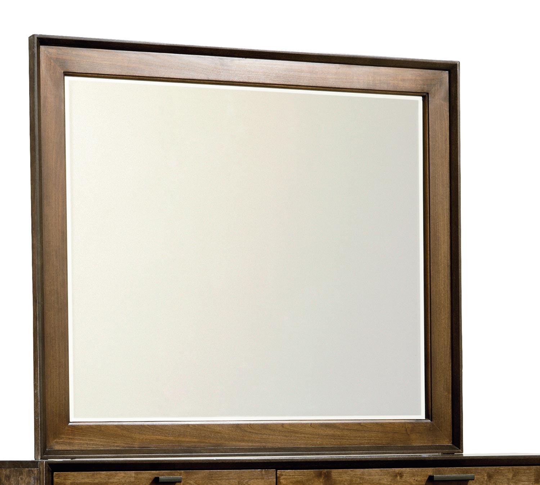 Legacy Classic Kateri Mirror for Bureau - Hazelnut/Ebony Exteriors