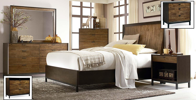 Legacy Classic Kateri Panel Bedroom Set - Hazelnut/Ebony Exteriors