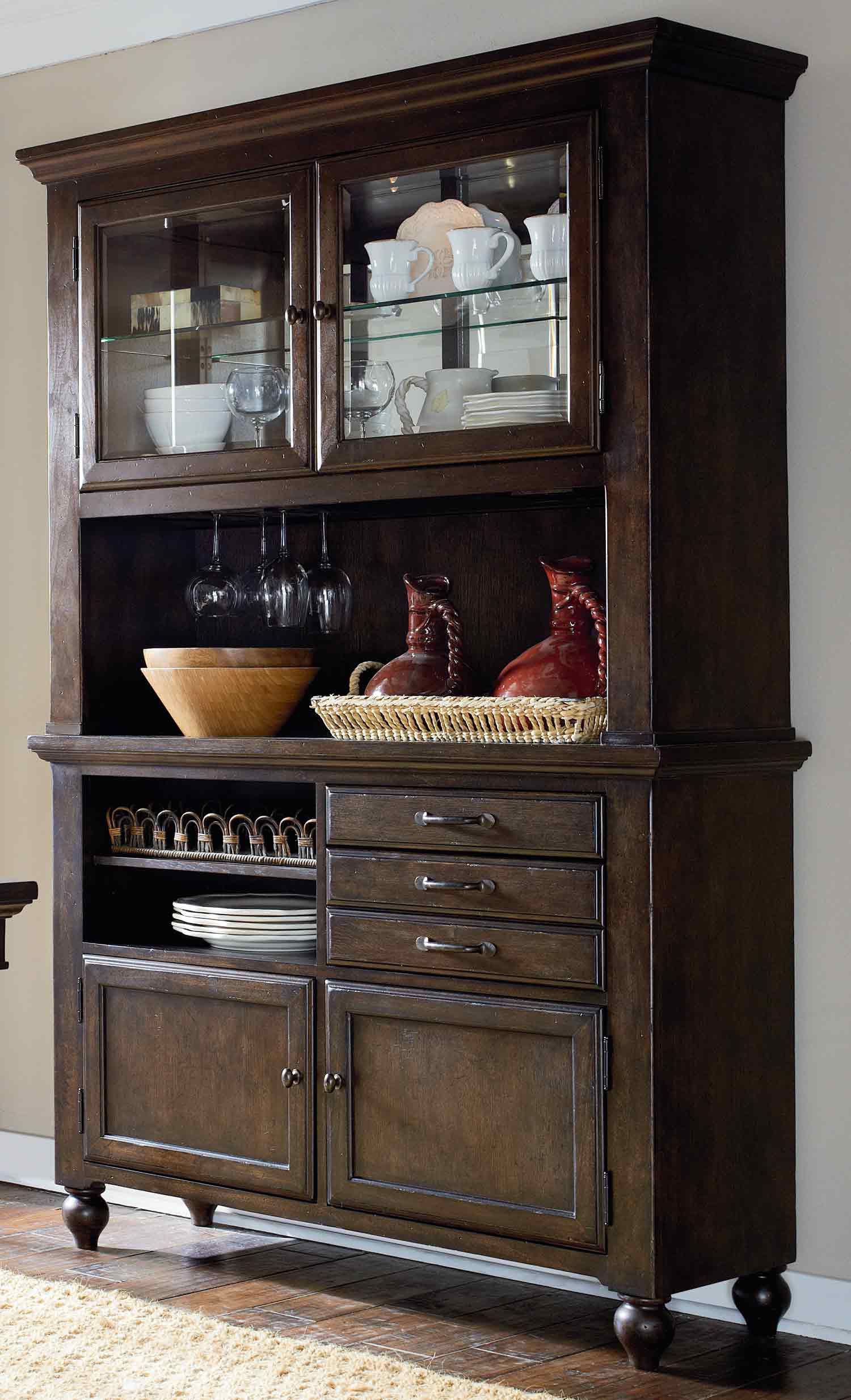 Legacy Classic Thatcher China Buffet/Hutch - Amber