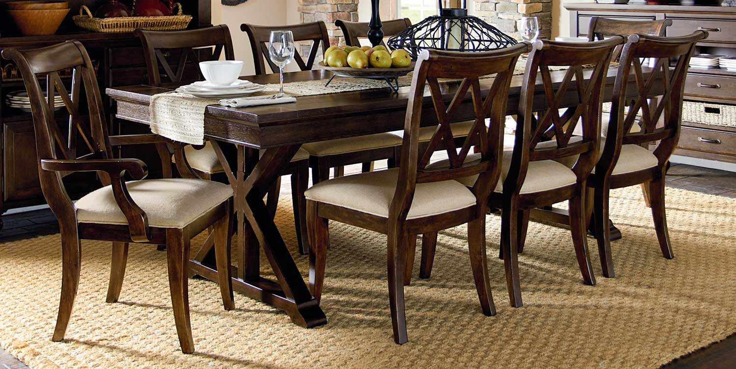Legacy Classic Thatcher X Back Dining Set- Amber