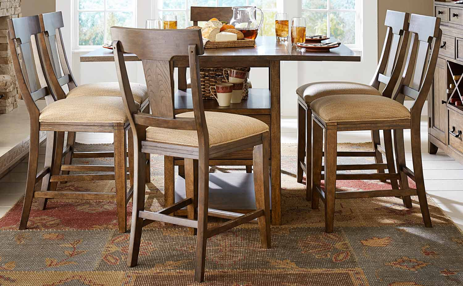 Legacy Classic River Run Pub Dining Set - Bourbon