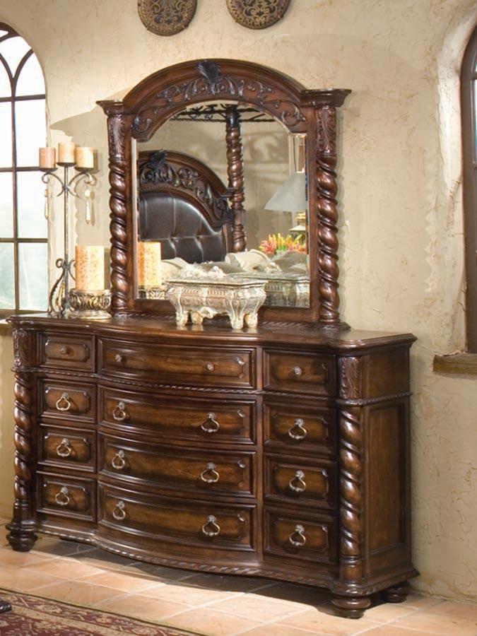 Legacy Classic Conquistador Dresser with Mirror