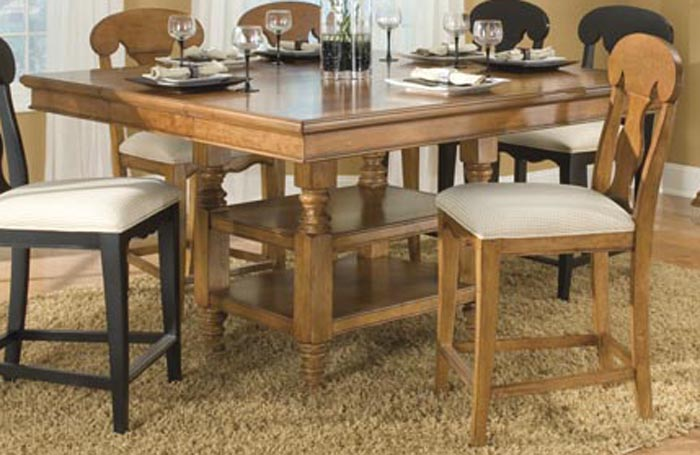 Legacy Classic Dining a la Carte Square Pedestal Extension Table