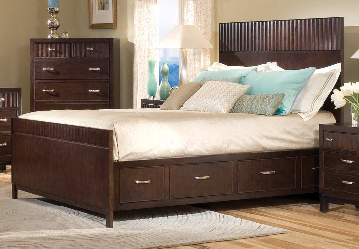 Legacy Classic Vista Panel Bed with 2 Underbed Storage Unit