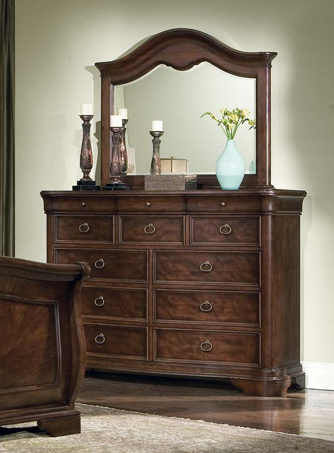 Legacy classic heritage court bureau with mirror for Bureau with mirror