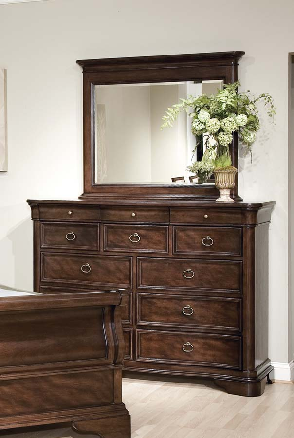 Legacy Classic Heritage Court Bureau with Rectangular Mirror