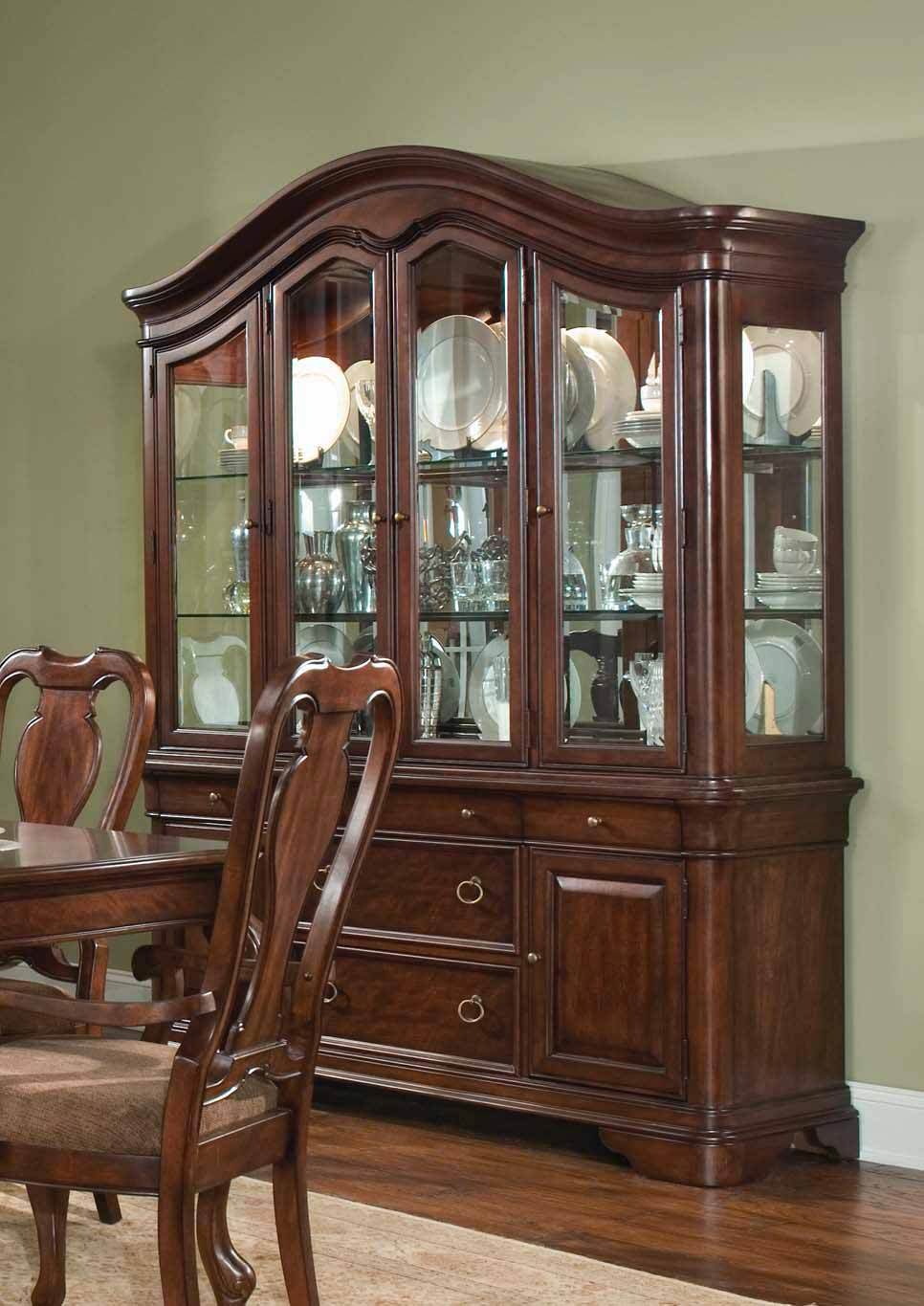 legacy classic heritage court buffet and china hutch