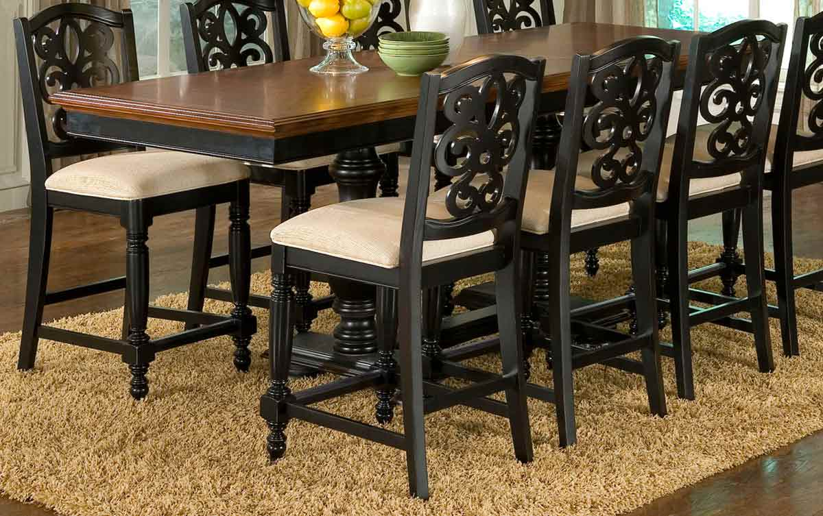 Legacy classic north hampton high dining table 836 940 at for Legacy classic dining table