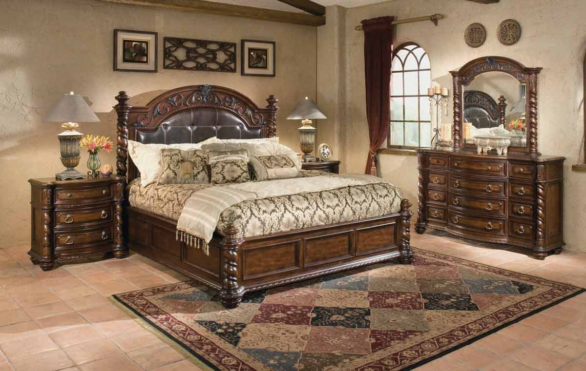 Legacy Classic Conquistador Leather Platform Bedroom Collection