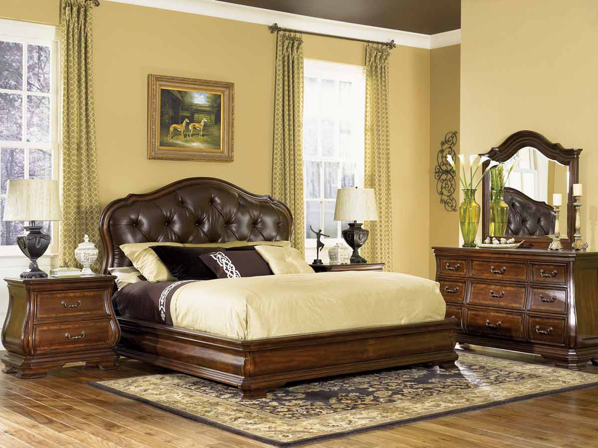 Legacy Classic Rochelle Leather Upholstered Platform Bedroom Collection