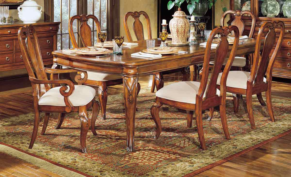 Legacy Classic Vintage Leg Extension Dining Collection with Queen Anne Chair