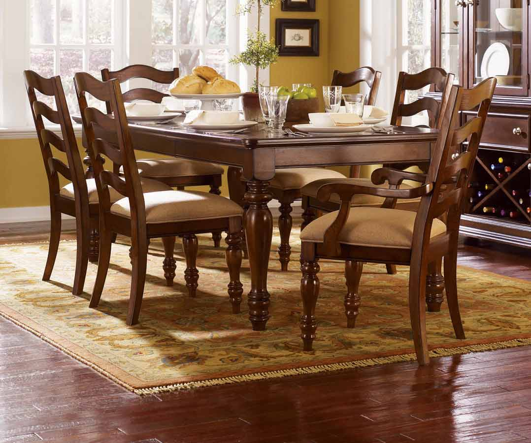 Legacy Classic Canyon Creek Rectangular Dining Collection with Ladder Back Chair