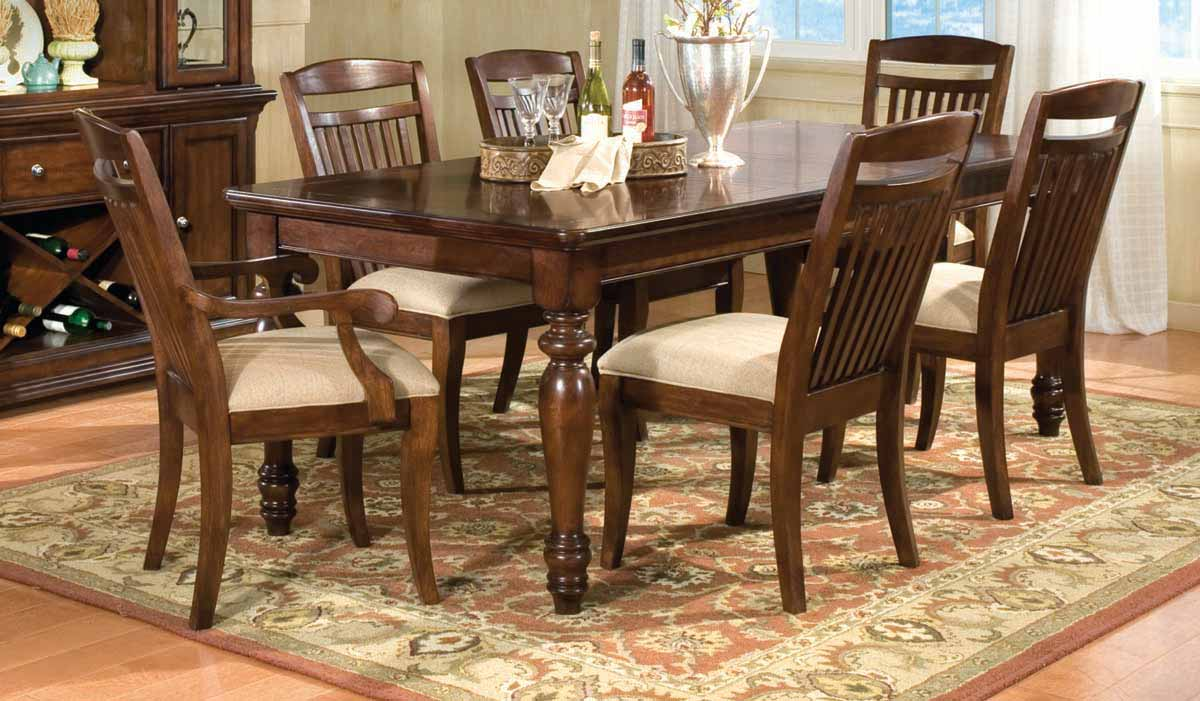 Legacy Classic Canyon Creek Rectangular Dining Collection with Slat Back Chair