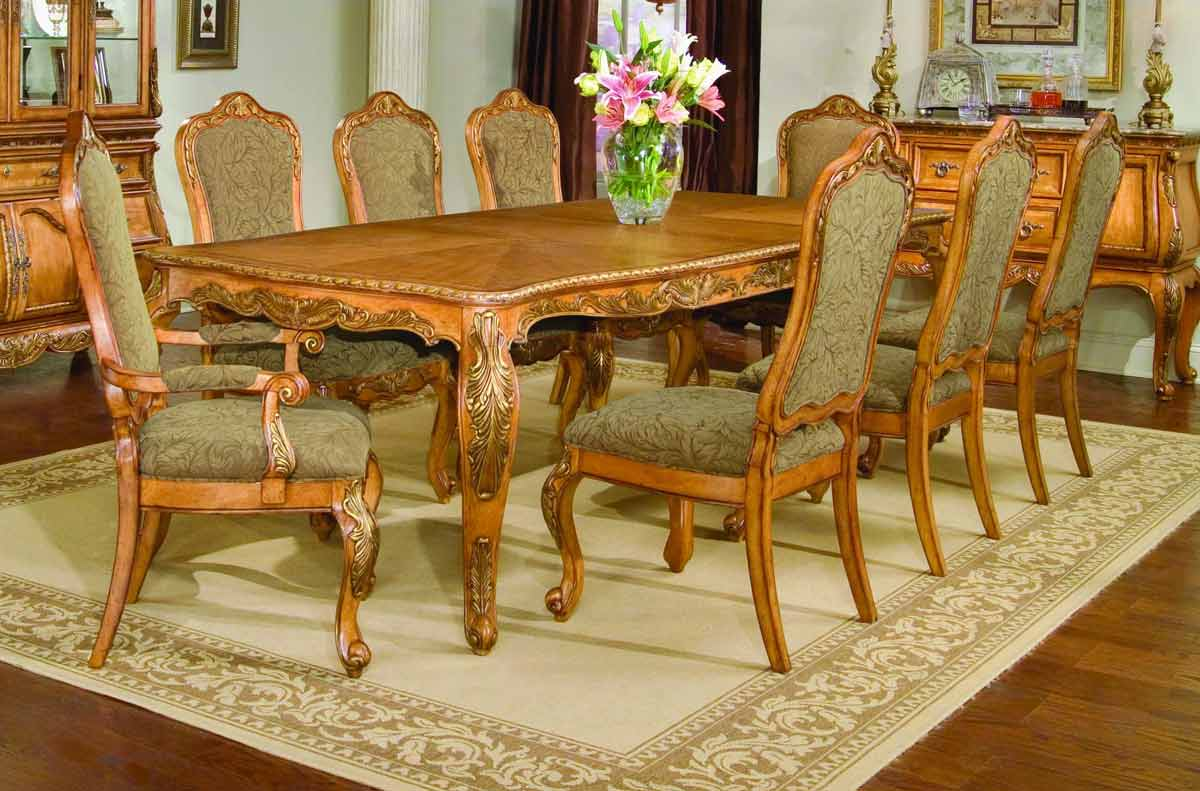 Legacy Classic Versailles Leg Extension Dining Collection with Upholstered Dining Chair