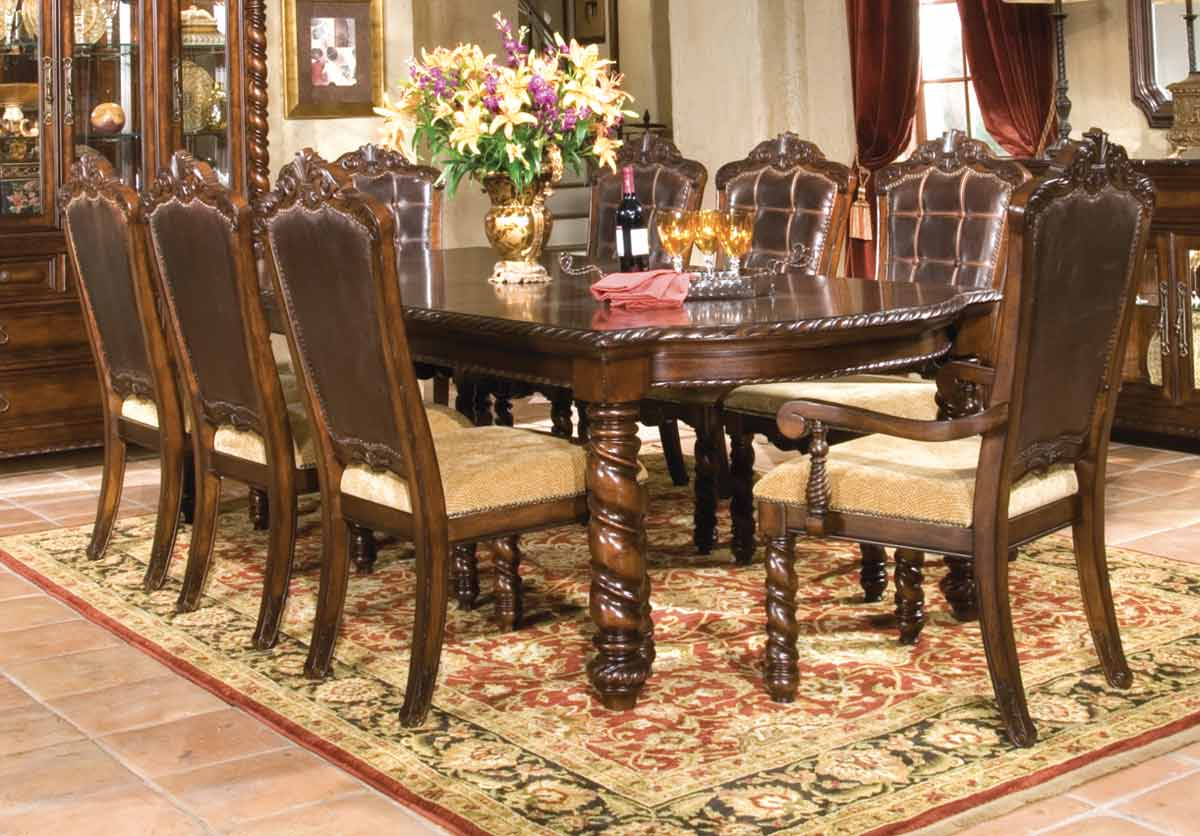 Legacy Classic Conquistador Leg Extension Dining Collection with Upholstered Chair