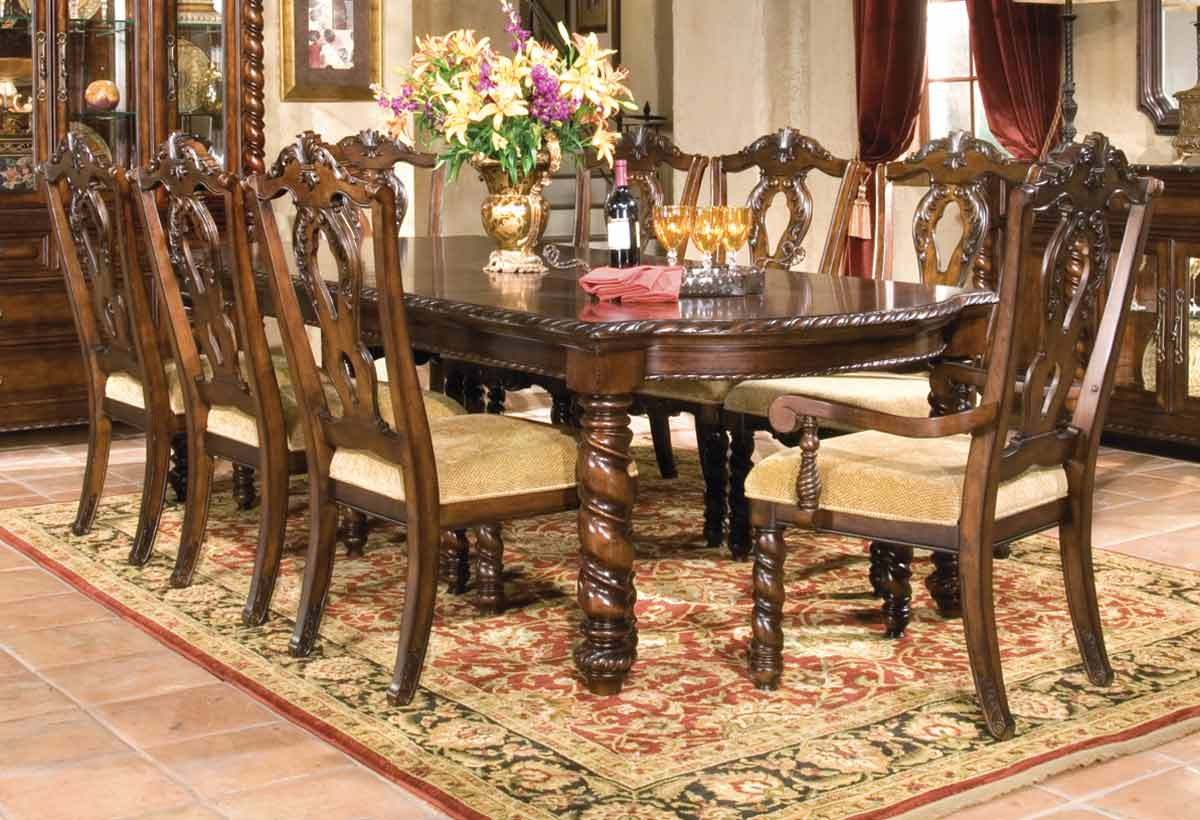Legacy Classic Conquistador Leg Extension Dining Collection with Splat Back Chair