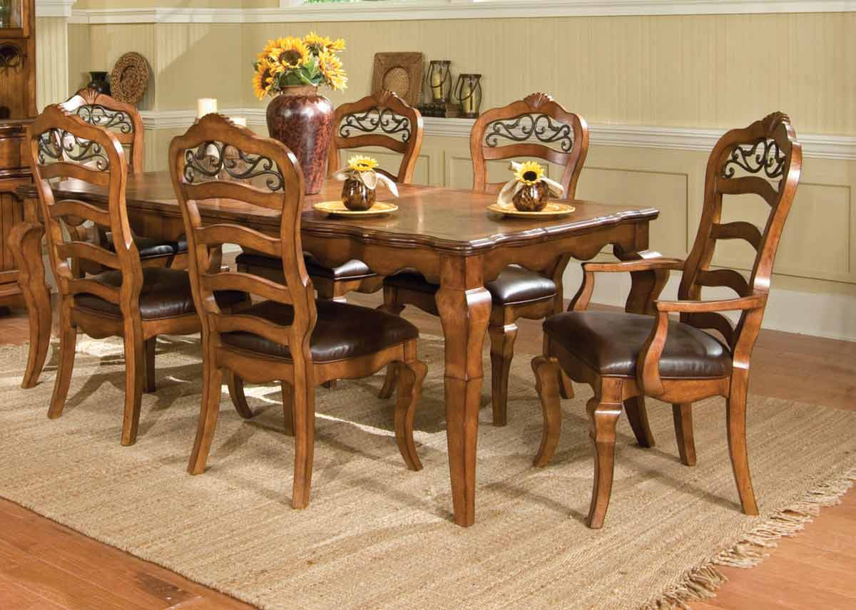 Legacy Classic Orleans Rectangular Leg Extension Dining Collection with Ladder Back Chair
