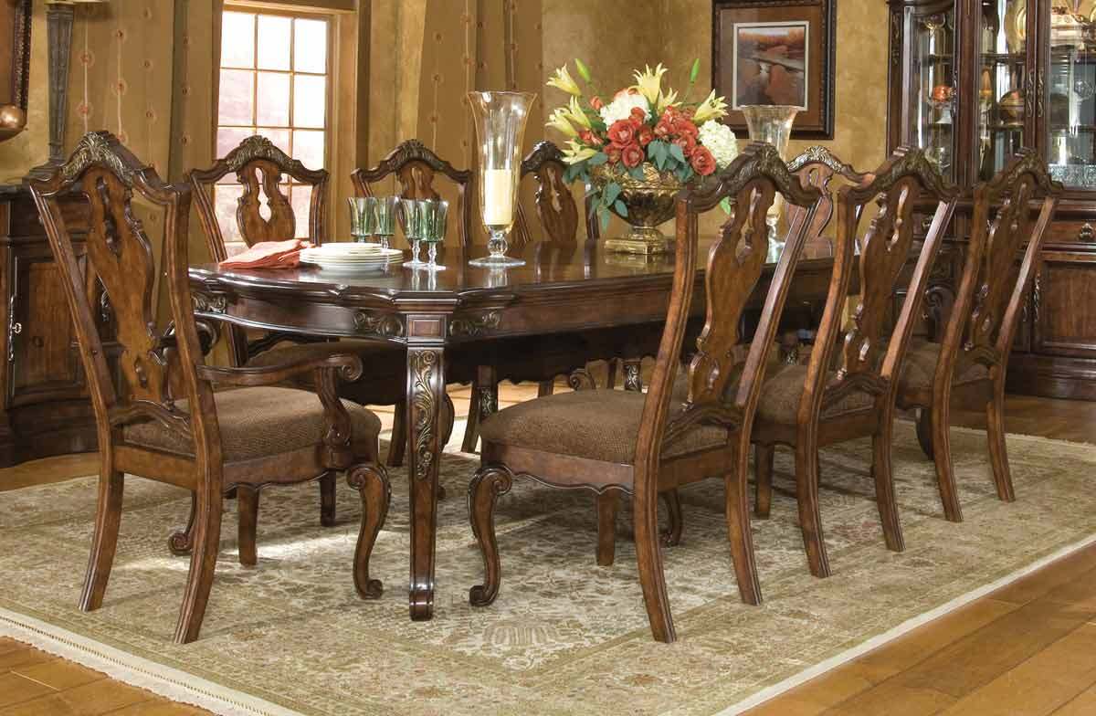 Legacy Classic Tuscan Manor Leg Extension Dining Collection with Splat Back Chair